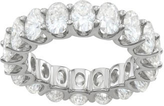 Charles & Colvard 14k White Gold 9 Carat T.W. Oval Lab-Created Moissanite Eternity Band Ring