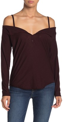 Nation Ltd. Harlow Cold Shoulder Long Sleeve T-Shirt