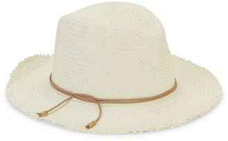 Hat Attack Fringe Travel Woven Fedora