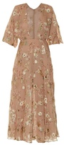 Valentino Floral fil coupé midi dress