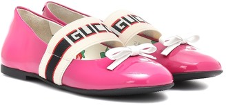 Gucci Kids Patent leather ballet flats