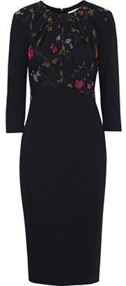 Jason Wu Floral-print Georgette-paneled Ponte Dress