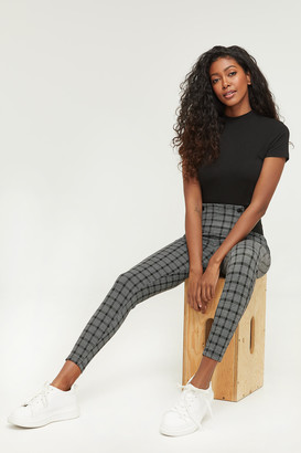 Ardene Plaid Button Leggings