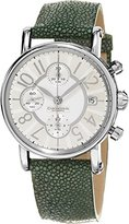 Chronoswiss Classic Green Leather Strap Automatic Chronograph Swiss Watch CH-7523LL-CL-SI