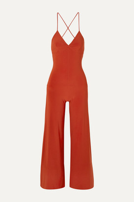 Norma Kamali Stretch-jersey Jumpsuit - Red