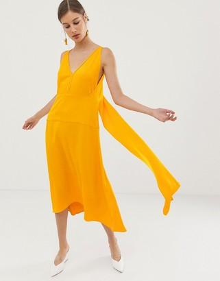Asos V back dress-Yellow