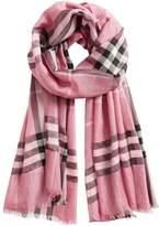 Burberry metallic check scarf