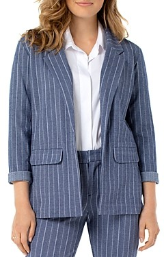 Liverpool Los Angeles Striped Knit Boyfriend Blazer