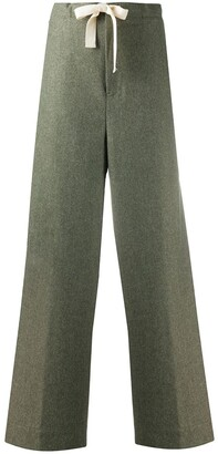Jil Sander Drawstring Straight-Leg Trousers