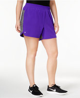 Ideology Plus Size Mixed-Media 2-in-1 Shorts, Only at Macy's