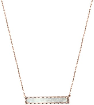 Effy 14K Rose Gold Diamond & Mother of Pearl Pendant Necklace