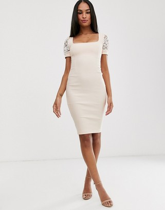 Vesper lace pencil dress