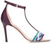 Emilio Pucci Vahine print 90mm T-bar sandals