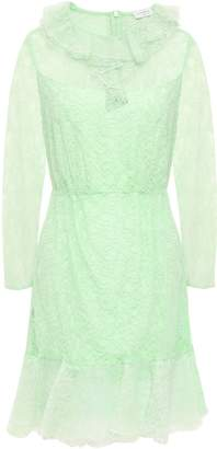 Sandro Ruffled Corded Lace Mini Dress