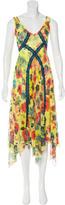Jean Paul Gaultier Floral Print Lace-Trimmed Dress