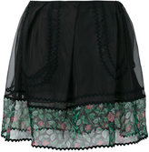 Coach sheer detail mini skirt - women - Silk/Cotton/Polyamide/Polyester - 2