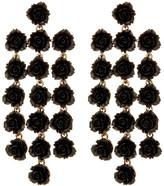 Natasha Accessories Rose Rows Drop Earrings
