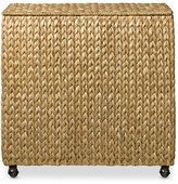 Williams-Sonoma Williams Sonoma Nantucket Woven Seagrass Double Hamper on Wheels