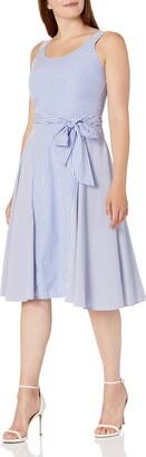 Julian Taylor Women's Stripe Fit and Flare Dress