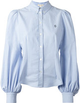 Marc Jacobs chest logo embroidered shirt - women - Cotton - 4