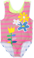 Stella McCartney floral and striped bathing suit - kids - Polyamide/Polyester/Spandex/Elastane - 18 mth
