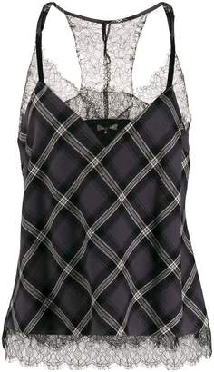 Gold Hawk plaid pattern camisole top