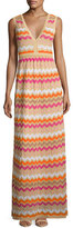M Missoni Sleeveless Zigzag Maxi Dress, Multi