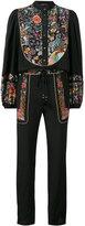 Roberto Cavalli floral panel jumpsuit - women - Silk - 42