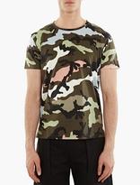 Valentino Pink Camouflage Motif T-shirt