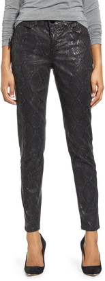 Wit & Wisdom Ab-solution Snake Print Side Zip Jeggings