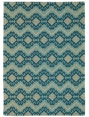 "Waverly Color Motion ""Kurta Ember"" Prussian Area Rug Rug Size: Rectangle 5' x 7'"