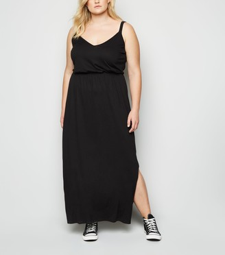 New Look Curves Double Strap Maxi Dress