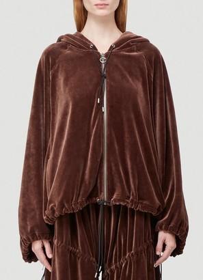 Telfar Velvet Zipped Sweatshirt