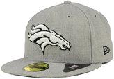 New Era Denver Broncos Heather Black White 59FIFTY Cap