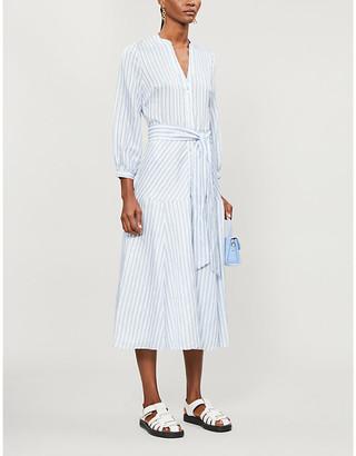 Veronica Beard Jenna striped woven midi wrap dress