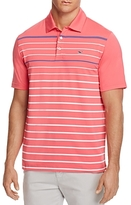Vineyard Vines Cashman Stripe Regular Fit Performance Polo Shirt