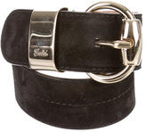 Gucci Suede Logo Waist Belt