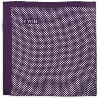 Eton Dot-Print Silk Pocket Square
