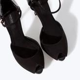 Zara High Heel Sandals With Ankle Strap And Platform