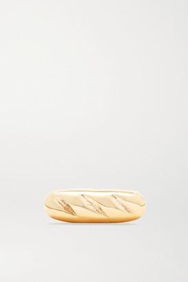 Alison Lou Baguette 14-karat Gold Earring - one size