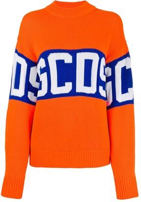 GCDS logo printed jumper