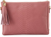 GiGi New York Hailey Snake-Embossed Crossbody Bag, Pink
