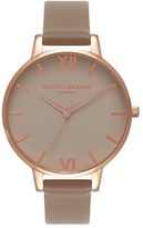 Olivia Burton Women's Go For Griege Leather Strap Watch, 38Mm