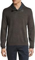 Toscano Men's Toggle Shawl Collar Sweater