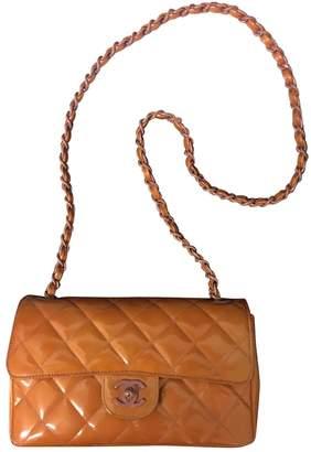 Chanel Timeless/Classique Orange Patent leather Handbags