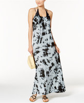 Raviya Tie-Dyed Crisscross-Back Maxi Cover-Up