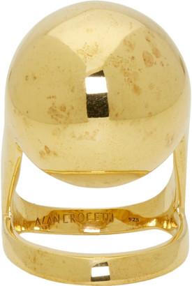 Alan Crocetti Gold Armadillo Joint Ring