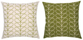 Orla Kiely Tiny Liner Stem Reversible Cushion Apple