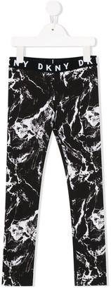 DKNY Marble Print Leggings