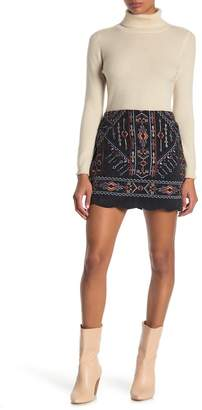 Blu Pepper Embroidered Mini Skirt